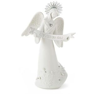 Lifted By Grace Angel White Porcelain Figurine